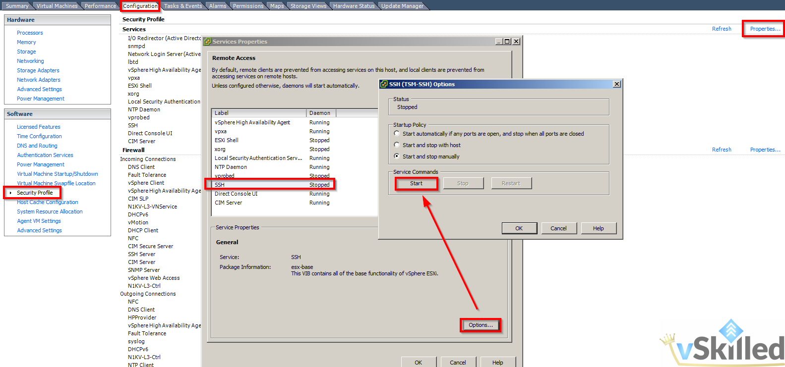 vSkilled com – Enable SNMP on ESXi 5 5